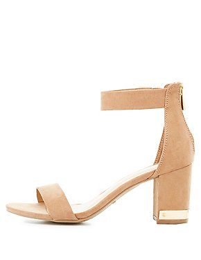 Bamboo Gold-Trim Two-Piece Sandals