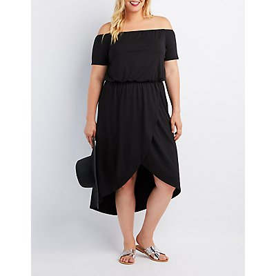 Plus Size Off-The-Shoulder Tulip Dress