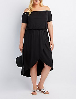 Plus Size Off-The-Shoulder Tulip Dress
