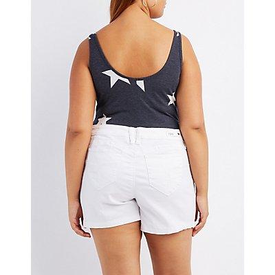 Plus Size Printed Scoop Neck Bodysuit