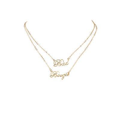 Bad & Boujee Pendant Necklace Set