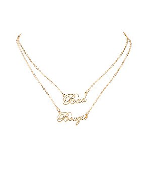 Bad & Boujee Pendant Necklace Set