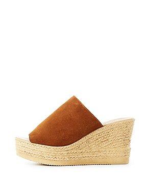 Bamboo Espadrille Slide Sandals