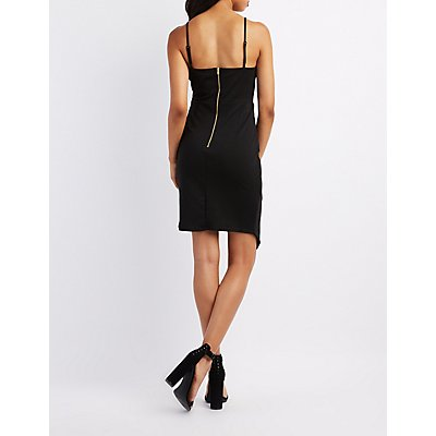 Caged Tulip Hem Bodycon Dress