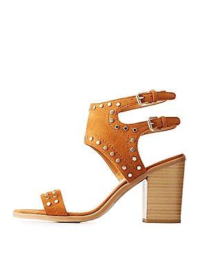 Studded Strappy Slingback Sandals