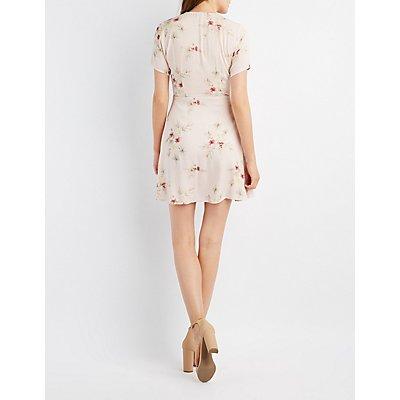 Floral Button-Up Skater Dress
