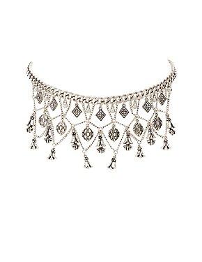 Chainlink Chandelier Choker Necklace