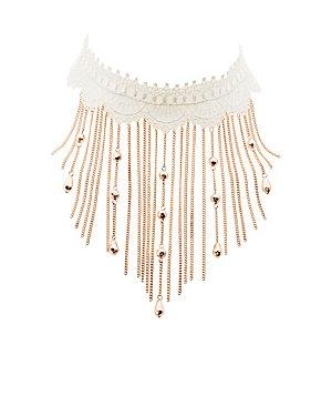 Embellished Crochet Choker Necklace