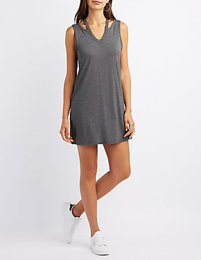 Cut-Out Shift Dress