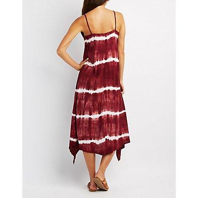 Tie Dye Sharkbite Hem Dress