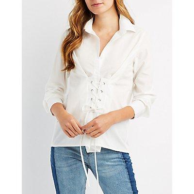 Corset-Detail Shirt