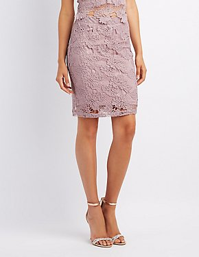 Crochet Bodycon Skirt