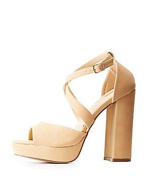 Strappy Peep Toe Platform Sandals