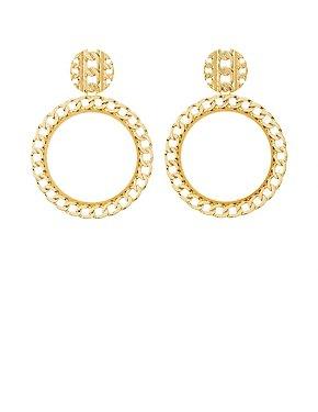Flat Chainlink Hoop Earrings