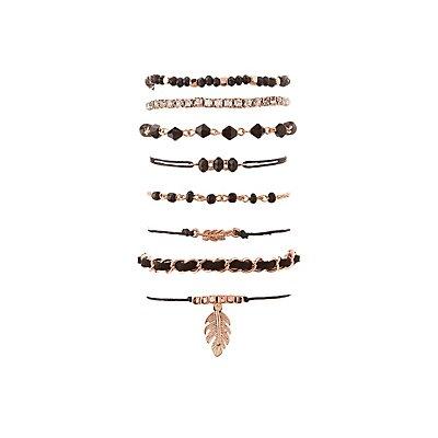 Embellished Layering Bracelets - 8 Pack