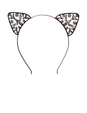 Crystal Cat Ear Headband