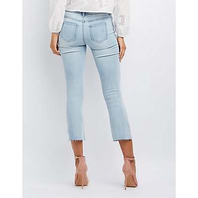 Cropped Cut-Off Skinny Jeans