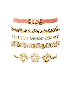Babe Layering Bracelets - 5 Pack