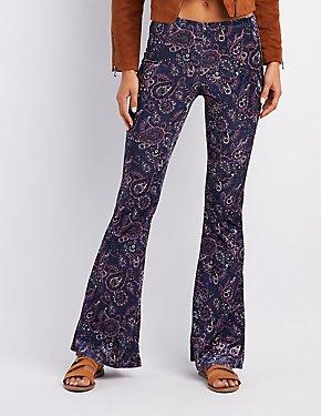 Paisley Velvet Flare Pants