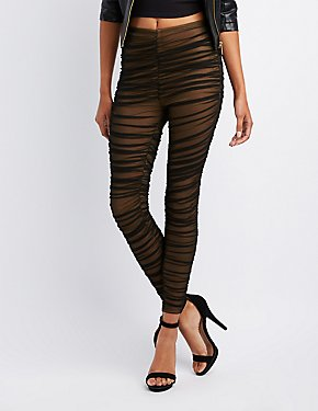 Mesh Ruched Leggings
