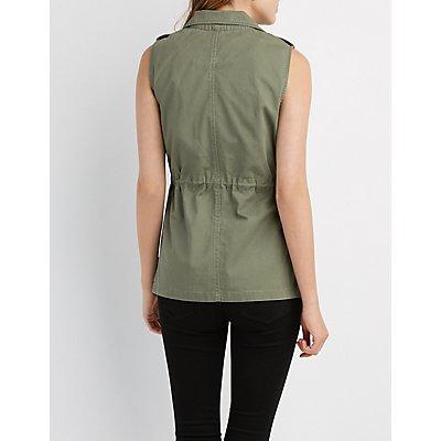 Drawstring Cargo Vest