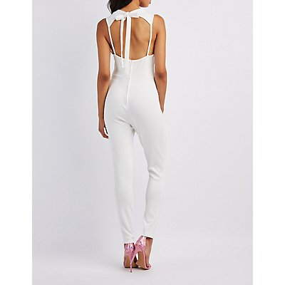 Plunging Tie-Back Jumpsuit