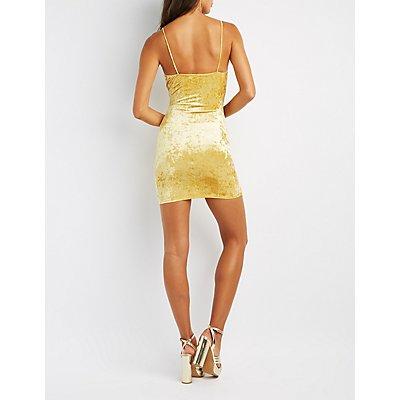 Velvet Bodycon Wrap Dress