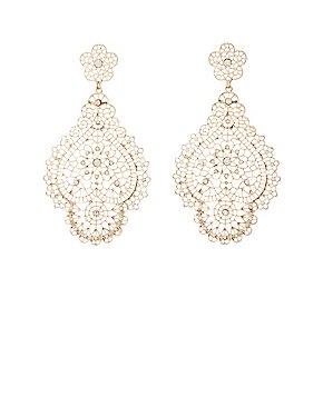 Embellished Filigree Earrings