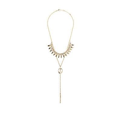 Embellished Bib Neck & Lariat Necklaces - 2 Pack