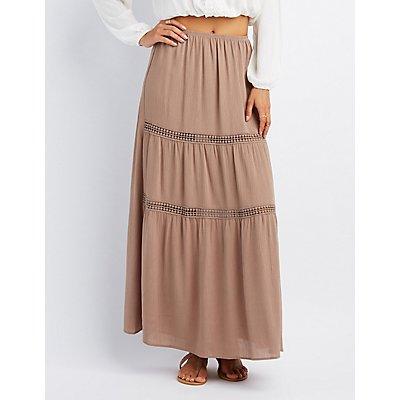 Crochet-Inset Maxi Skirt