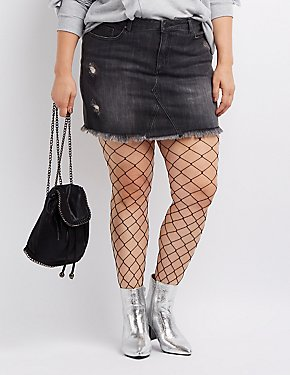 Plus Size Refuge Denim Mini Skirt