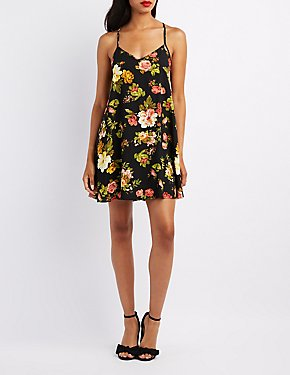 Floral Racerback Shift Dress