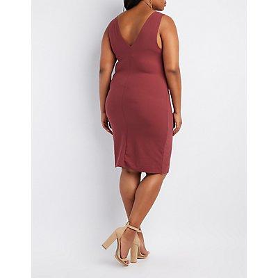 Plus Size Strappy Midi Bodycon Dress