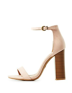 Faux Suede Two-Piece Sandals