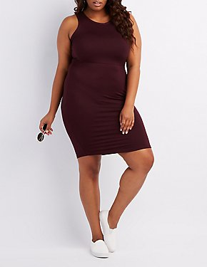 Plus Size Racerback Bodycon Dress
