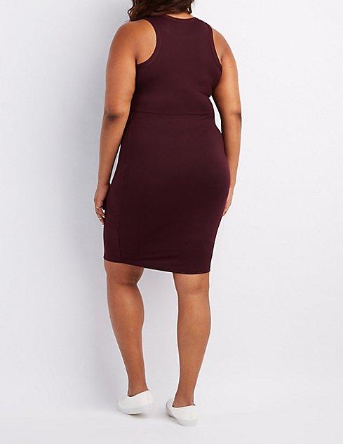 Plus Size Racerback Bodycon Dress   Charlotte Russe
