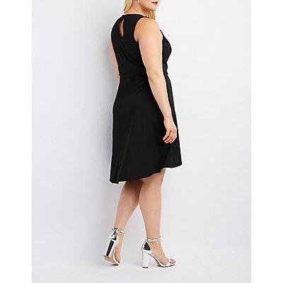 Plus Size Surplice Wrap Dress