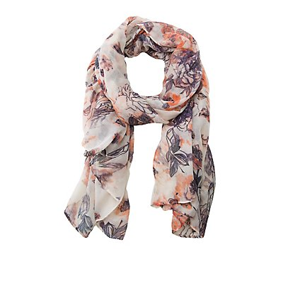 Floral Woven Shawl Scarf