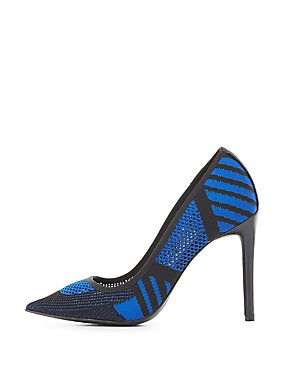 Knit Pointed Toe Pumps