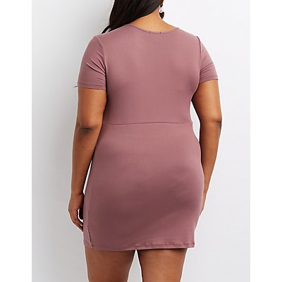 Plus Size Brushed Bodycon Dress