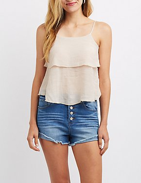 Tiered Ruffle Tank Top