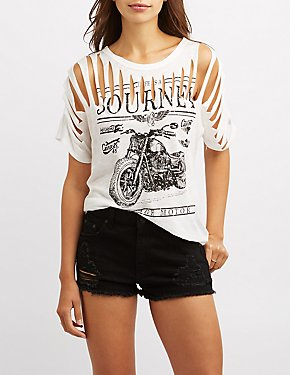 Destroyed Motorcycle Graphic Tee