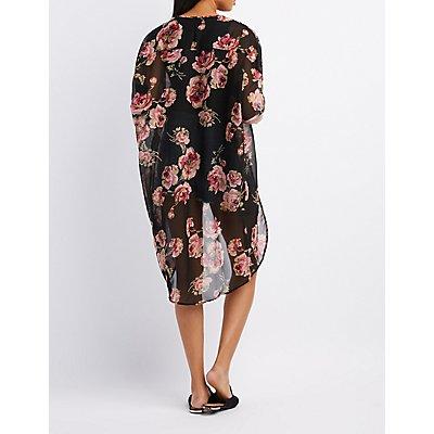Floral Tunic Kimono