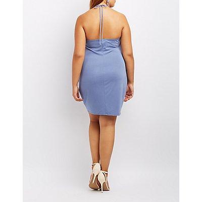 Plus Size Halter Bodycon Dress