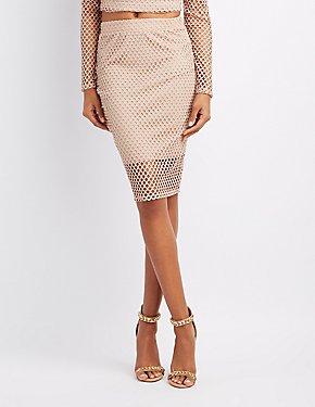 Fishnet Pencil Skirt