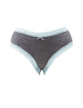 Plus Size Lace-Trim Cheeky Panties