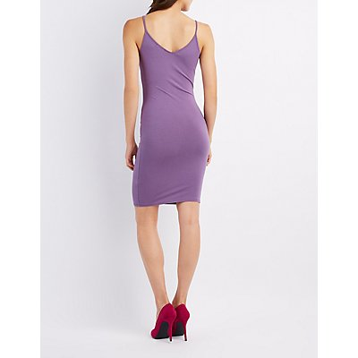 Strappy Caged-Front Bodycon Dress