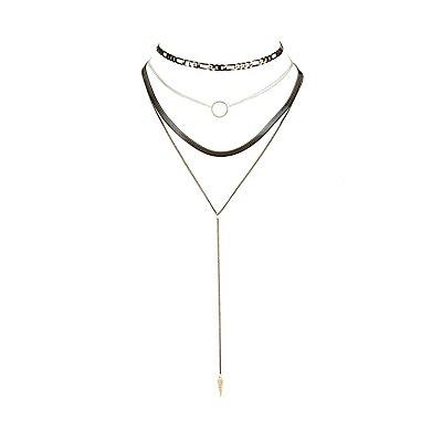 Embellished Choker Necklaces - 3 Pack