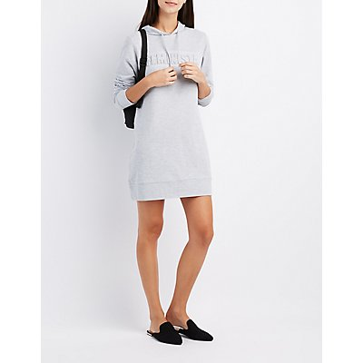 Feminista Hooded Sweatshirt Dress