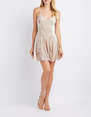 Velvet Skater Dress
